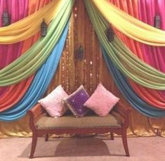 Most Popular Indian Wedding Stage Backdrop 10 Ideas Wedding Stage Backdrop, Wedding Mandap, Wedding Stage Decorations, Wedding Ceremony, Wedding Wall, Diwali Decorations, Wedding Receptions, Indian Theme, Moroccan Theme
