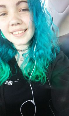 Colors used for my hair: Aquamarine and a mix of aquamarine and neon moon (All my Arctic Fox Hair Color) Neon Moon, Arctic Fox Hair Color, Little Pony, Dyed Hair, Girly, Colors, Mlp, Girly Girl, Coloured Hair