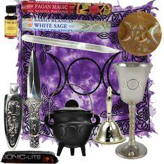 Triple Moon Goddess Altar Kit Purplr
