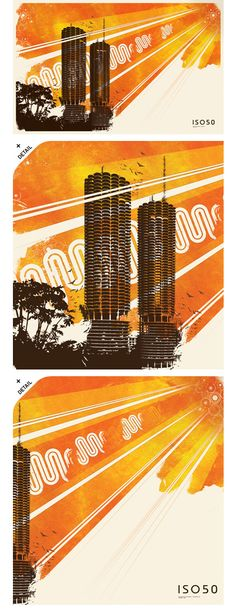 by Designer Scott Hansen Marina City, Scott Hansen, Chicago, Typography, Branding, Graphic Design, Towers, Searching, Cards