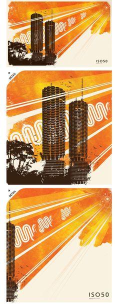 Marina City Towers Print // ISO50