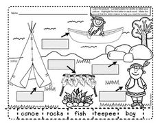 4 pages of labeling activities for November.  Color the picture. Highlight the first letter in each word. Make the sound that the letter makes to help you read the words. Cut out the words and paste them to label your picture. Perfect for morning work or small groups. $