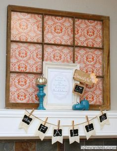 Mantel  Decorations : IDEAS &  INSPIRATIONS : Orange &  Turquoise Fall Mantel