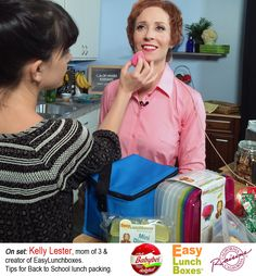 Kelly Lester on set for EasyLunchboxes, Babybel, and CA Raisins Babybel Cheese, Packing School Lunches, California Raisins, Show And Tell, On Set, Back To School, Mini, Entering School, Back To College