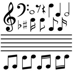 music notes and signs set hand drawn music symbol sketch collection rh pinterest com musical notes vector pack free colorful musical notes vector free