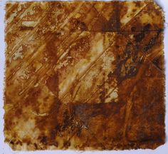 rust dyed cloth eco dyed hand dyed 27 x 26 cm fabric square dyed with rusty found objects great for art & crafts, wall art, display, collage by OfPrintThreadAndRust on Etsy