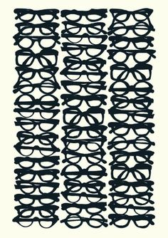 Glasses by Maria Hatling, illustration, fine art print, Maria Hatling Textures Patterns, Print Patterns, Pattern Print, White Patterns, Grafik Design, Art Plastique, Pattern Design, Fine Art Prints, Kids Prints