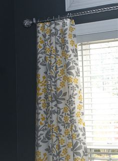 Curtains made from Target table cloths. No sewing - just clip them!