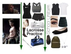 """""""Imagine: Going to Devenford Prep, and you are dating Brett and you guys play Lacrosse together"""" by lewandowski2017 ❤ liked on Polyvore featuring George, Chicwish, Verali, Ivy Park, Zensah, NIKE, LaCrosse, STELLA McCARTNEY, Links of London and BERRICLE"""