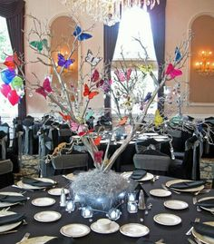 Erfly Bat Mitzvah Party Shower Theme Ideas Centerpieces By Balloon