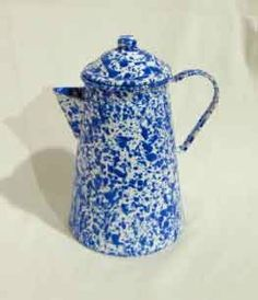 anything enamelware - all day long. this one, a 12 Cup Coffee Pot, Blue Marble : Amazon.com : Kitchen & Dining