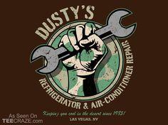 Dusty's Repair Shop T-Shirt - http://teecraze.com/dustys-repair-shop-t-shirt/ - Designed by ClayGrahamArt #tshirt #tee #art #fashion #clothing #apparel #GIJoe