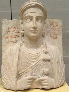 File:Tomb portrait of Tiklak, daughter of Aphshi, Palmyra, Syria, inscription in Palmyrene Aramaic, 3rd century AD - Royal Ontario Museum - DSC09615.JPG