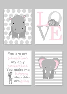 Zoo Nursery Decor Elephant Nursery Zoo Baby by SweetPeaNurseryArt