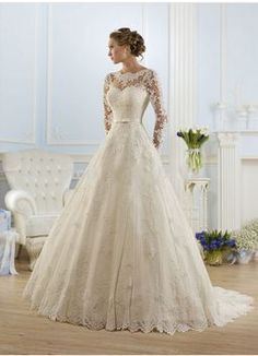Lacey A-Line Wedding Dress with V-Back