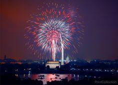 July 4th Fireworks, Washington, DC, 2008
