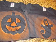 so i was looking for shirts for the girls for halloween that were free of peace - Homemade Halloween Shirts