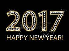 2017: nova ano de 2017 o fundo do ouro vector feliz