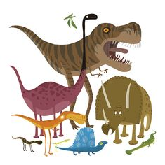 Dinosaurs Sticker Book on Behance