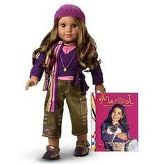 American Girl Doll Names, All American Girl, Mexican American, Retired American Girl Dolls, School Accessories, Doll Eyes, Bitty Baby, Scarf Design, Ag Dolls