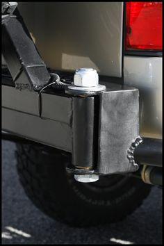 Tire Carrier Hinge Ideas for Rear Bumper