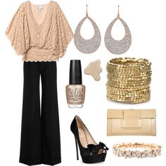 I LOVEEEE this outfit, would have to go with lower heels, though.  I would also do a black purse