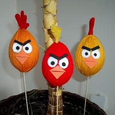 Velikonoční tvoření s dětmi - Ptákvejce Angry Birds, Christmas Ornaments, Holiday Decor, Creative, Kids, Crafts, Handmade, Blog, Toy Organization