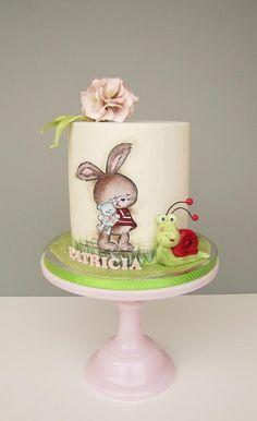 Christening cake by daruj tortu Baby Shower Cupcakes For Girls, Girl Cupcakes, Wedding Cupcakes, Baby Shower Cakes, Bolo Minnie, Minnie Mouse, Fondant Cakes, Cupcake Cakes, Buttercream Cake