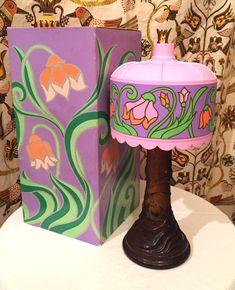 Vintage AVON 1970s Tiffany Lamp Decanter by TheBangCultVintage