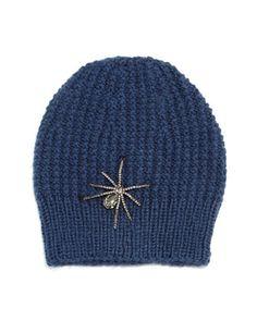 Crystal Spider Knit Beanie Hat by Jennifer Behr at Neiman Marcus.