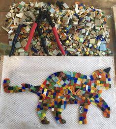 Cat Lovers, Diy And Crafts, Friendship, Workshop, Mosaic Artwork, Creativity, Cement, Ideas, Creative