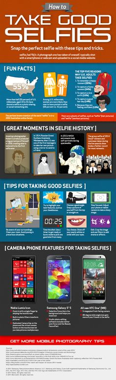 How to Take Good Selfies #infographic #Selfie #SocialMedia #howTo