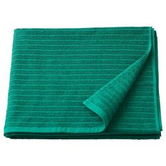 VÅGSJÖN Bath towel, dark green, The combination of solid terry and stripes gives you an appealing towel with great function. The solid terry is soft against your skin and the woven stripes are both absorbent and dry quickly. Textiles, Tea Towels, Bath Towels, Bath Mat, Ikea Delivery, Ikea Canada, White Towels, Dark, Bath