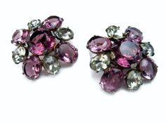 Art Deco Sterling Silver Earrings Amethyst by EclecticVintager