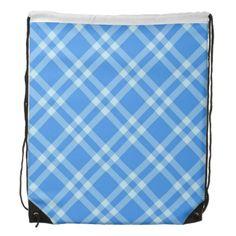 Stripe pattern cinch bag