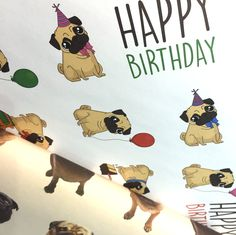 WRAP30B - Carta Regalo 70x100 cm - Pug Carlino | Puckator IT #pug #CartaRegalo #puckator