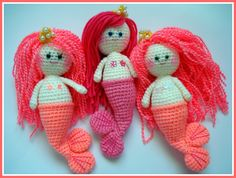 AllSoCute Amigurumis: Amigurumi Mermaid Girls / Örgü Oyuncak Deniz Kızları