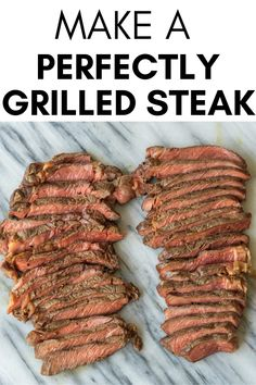 Use this method to make a Perfectly Grilled Steak every single time. Find out which cuts of meat to grill, how to season your steak and your desired internal temperature for a cooked steak. Grilled Steak Recipes, Grilled Meat, Paleo Recipes Easy, Whole 30 Recipes, Summer Grilling Recipes, Grill Recipes, One Pan Meals, Kitchen Recipes, Kitchen Hacks
