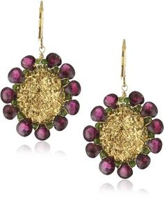 "Eva Hanusova ""Gold Leaf"" Red Garnets Crochet Disk Earrings Eva Hanusova, http://www.amazon.com/dp/B005TH9BTA/ref=cm_sw_r_pi_dp_DdB7qb1210S7P"