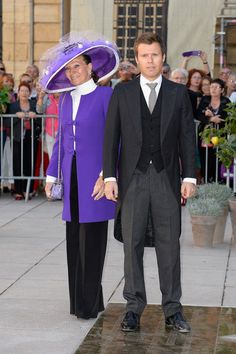 Princess Isabelle Of Liechtenstein and Prince Wenzeslaus Of Liechtenstein attend the Religious Wedding Of Prince Felix Of Luxembourg and Claire Lademacher at the Basilique Sainte Marie-Madeleine on September 21, 2013 in Saint-Maximin-La-Sainte-Baume, France.