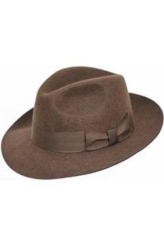 Hombre Sombreros - Sombrero Fedora de fieltro con amplia visera 57cc3a0a693