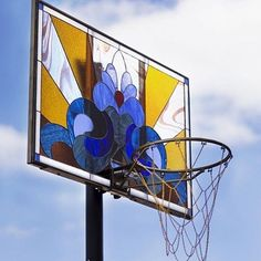 We got next. @victorsolomon and his twist on the basketball backboard with these stained-glass works showing at @joseph_gross_gallery this week in NYC!
