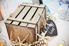 Wooden rustic wedding wishing well treasure chest