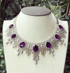 The beauty of Amethyst #diamondnecklace #richgemscollections #handcrafted #madeinmyanmar