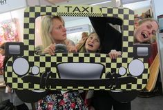 Yellow & Black Taxi Photo Booth Prop - Extra Large Perfect for Weddings, Going away Parties or Just because! DIY Instant Download Printable #lmphotoprops #photoprop #printable #digitaldownload
