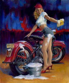 Motorcycle Art - David Uhl #1