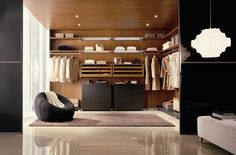 Uncluttered wardrobe the Mister likes the look of