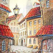 image-4 Building Painting, City Painting, Building Art, Art Deco Posters, House Illustration, Batik, Mexican Folk Art, Whimsical Art, Art Sketchbook