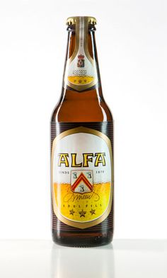 Alfa Edel Pils - Pils.  Tobacco, sweet and citrus aroma; sweet/bitterish taste with tobacco and honey aromas; bitter finish with tobacco, pepper and butter aromas. Too sweet, like many Dutch beers of this type. Has a bit of a hop-extract smell.