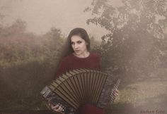 She feels safe with an accordion
